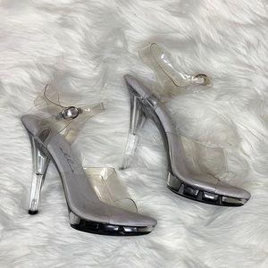 Shoes - Ellie Clear Heels Platform Brooke